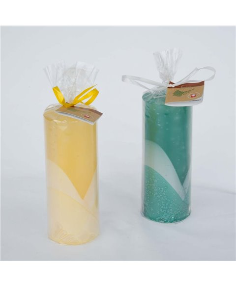 Slim decored candle