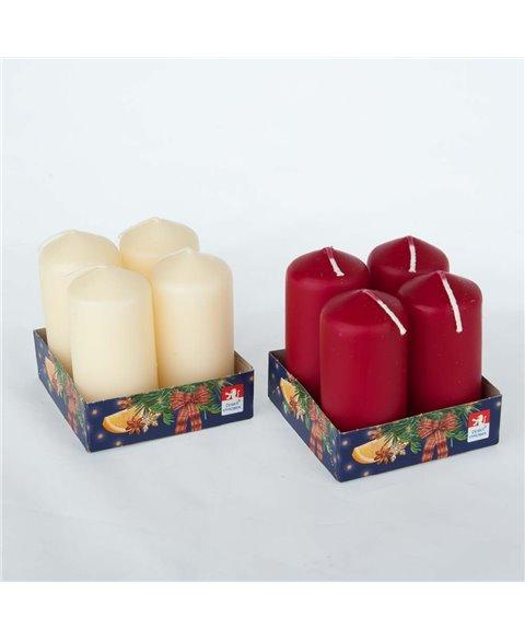 Small Candles Set 4 Pcs