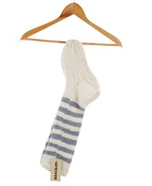 Knitted Socks – striped gray