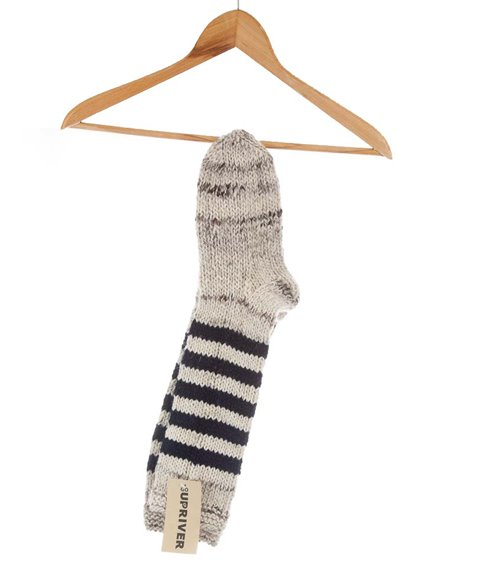Knitted Socks – striped blue